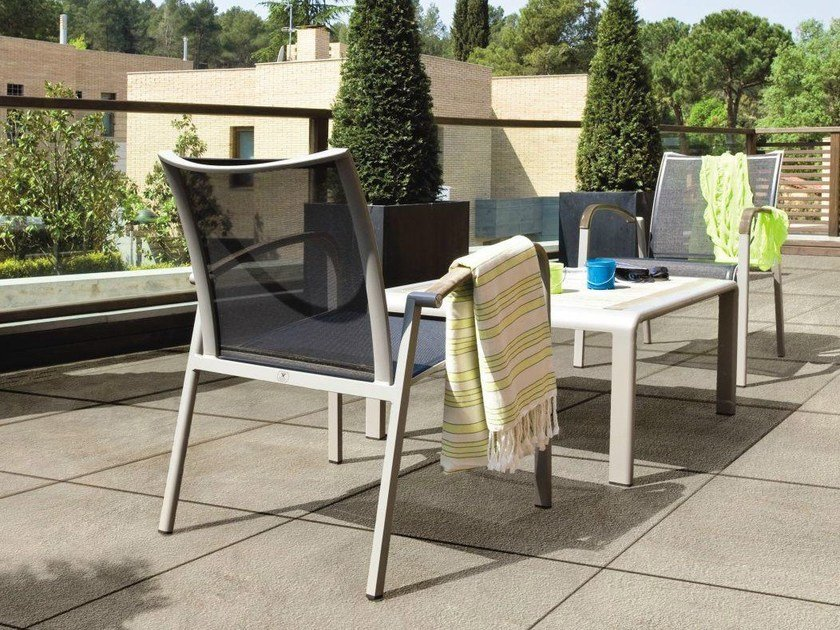 Porcelain stoneware outdoor floor tiles STONETRACK T20 by Supergres
