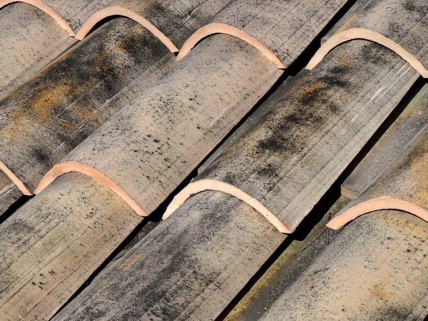 Clay bent roof tile COPPO MEDITERRANEO ANTICATO by Tegolaia