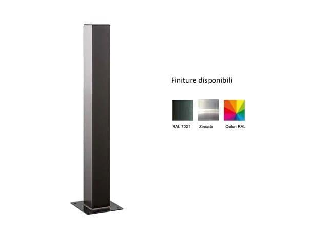 Fixed steel bollard post MARTE 100x100 MM by Lazzari