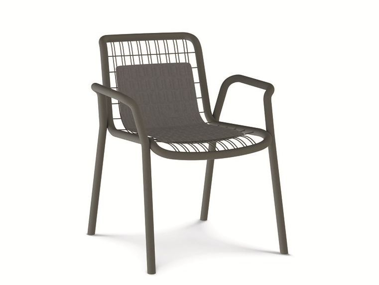 Stackable Metal Garden Chair STITCH | Metal Chair By Ethimo
