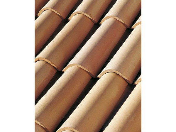 Clay bent roof tile COPPO 50 by Tegolaia