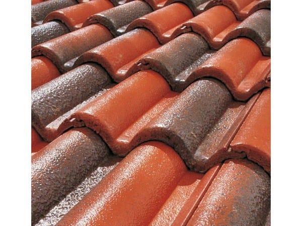 Cement roof tile SUPERCOPPO® CERAMICATO By Tegolaia