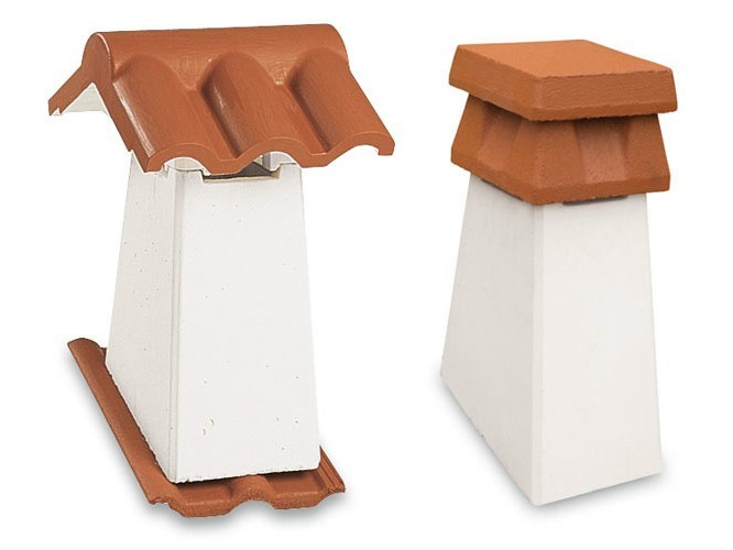 Concrete Chimney for roof Chimney by Tegolaia