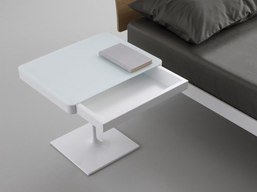 Rectangular bedside table with drawers PLANE | Crystal bedside table by iCarraro