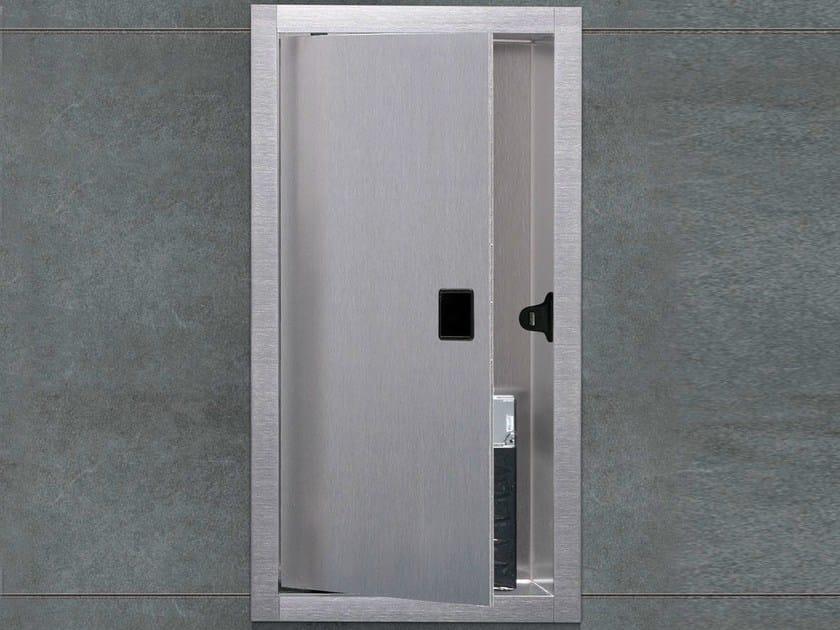 l ment mural pour salles de bains avec portes container box niche murale avec porte by ess easy. Black Bedroom Furniture Sets. Home Design Ideas