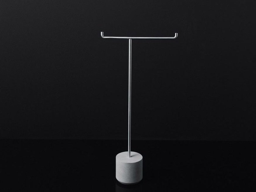 Stainless steel toilet roll holder / towel rack IKO by Boffi