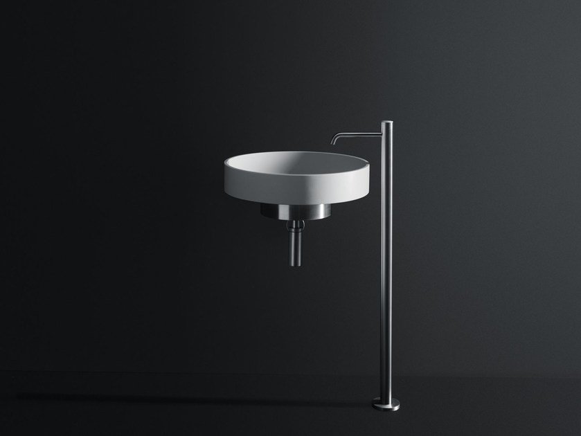Round Cristalplant® washbasin LOTUS | Wall-mounted washbasin by Boffi