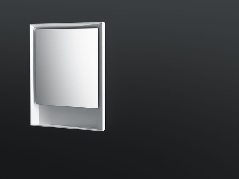Specchio rettangolare con cornice con illuminazione integrata sp