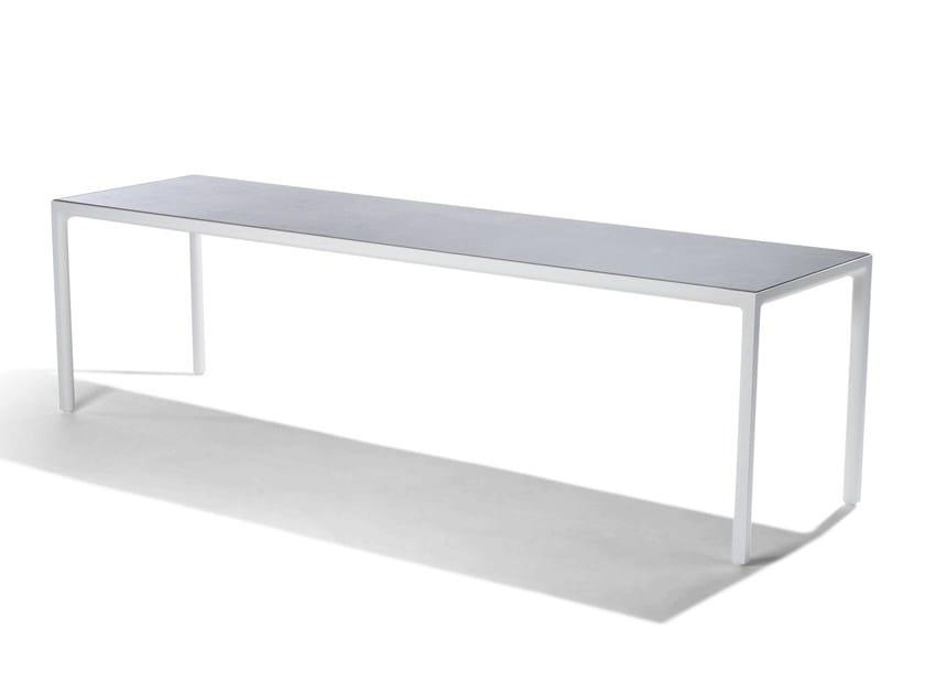 Rectangular ceramic garden table ILLUM   Ceramic table by TRIBÙ