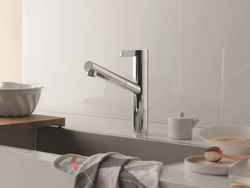 Kitchen mixer tap with swivel spout ENO | Kitchen mixer tap with swivel spout by Dornbracht