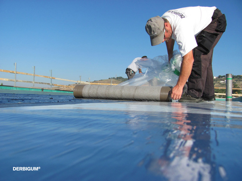 Waterproofing product for sustainable building DERBIPURE by Derbigum