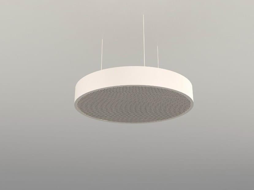 Hanging acoustical panel / pendant lamp NCA D600-900-1200 | Pendant lamp by Neonny