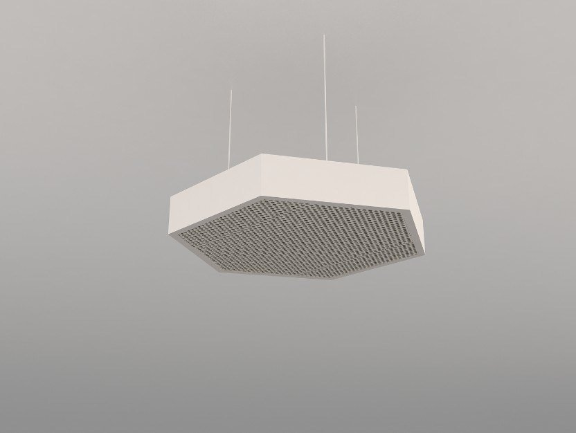 Hanging acoustical panel / pendant lamp NCA H600-900-1200 | Pendant lamp by Neonny