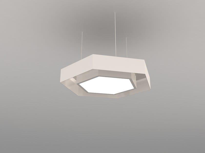 Hanging acoustical panel / pendant lamp NCM LA H600-900-1200HA | Pendant lamp by Neonny