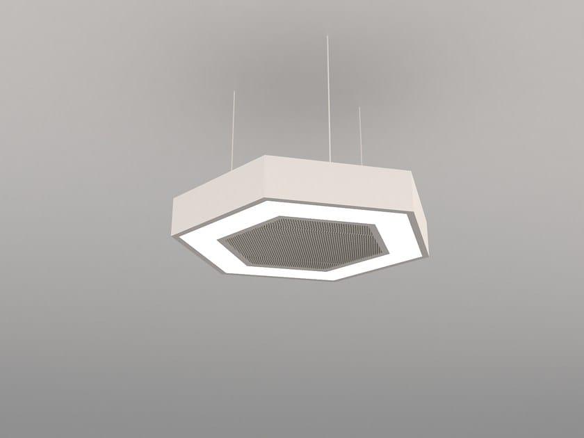 Hanging acoustical panel / pendant lamp NCM LA H600-900-1200FB | Pendant lamp by Neonny
