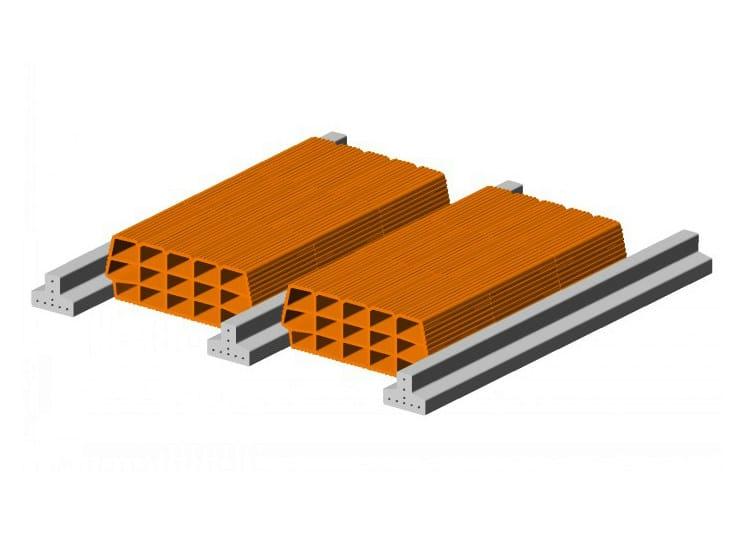 Hollow clay floor slab block Floor slab 9 12  - Single beam by FORNACI SCANU