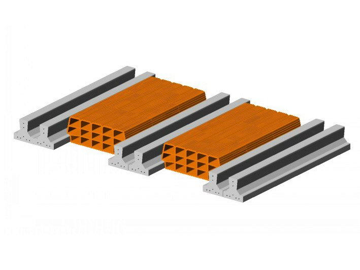 Hollow clay floor slab block Floor slab 13 14  - Double beam by FORNACI SCANU