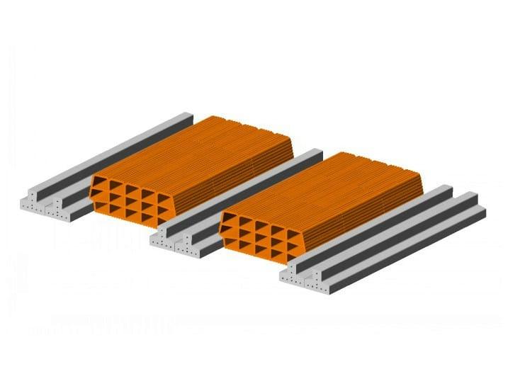 Hollow clay floor slab block Floor slab 9 12  - Double beam by FORNACI SCANU