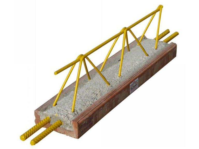 Lattice joist for reinforced concrete floor slab Bausta joist by FORNACI SCANU