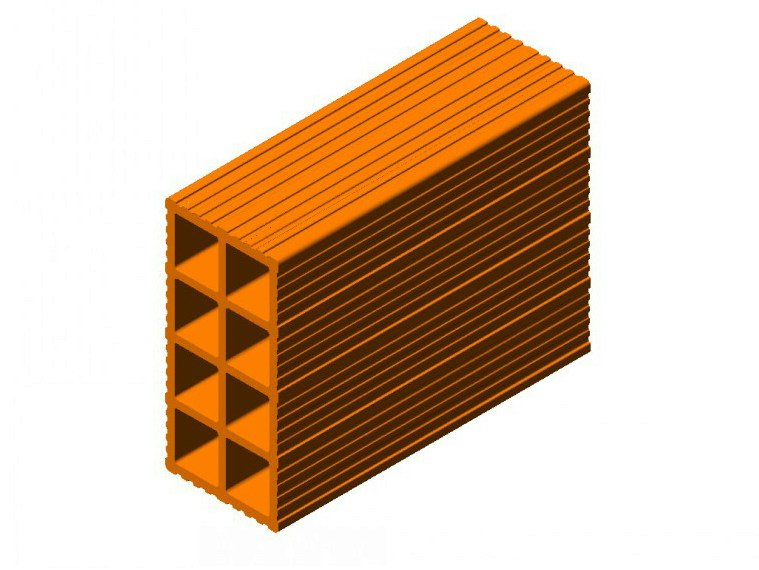 Clay block for internal partition Clay block 12 by FORNACI SCANU