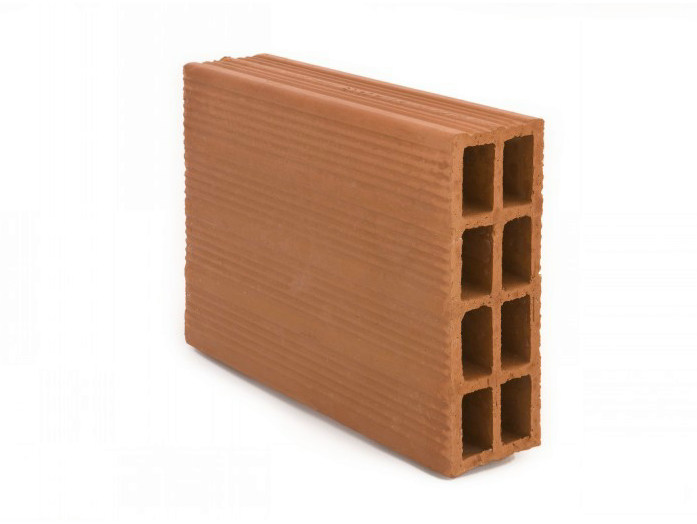Clay block for internal partition Clay block 8 (8x25x25) by FORNACI SCANU