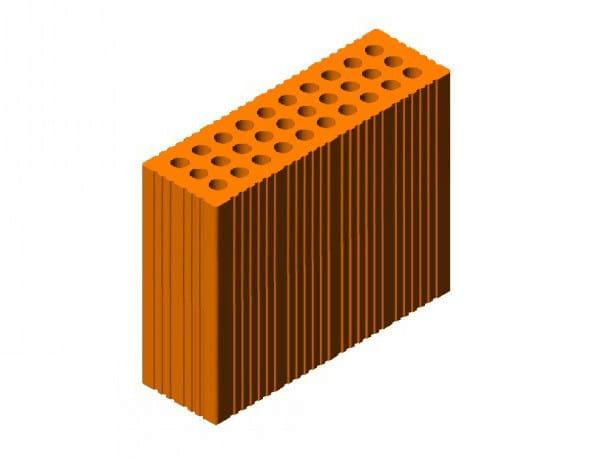 External masonry clay block Sound absorbing masonry clay block by FORNACI SCANU