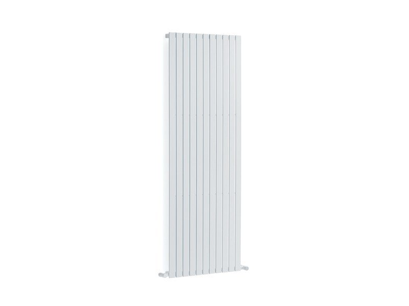 Dual energy wall-mounted stainless steel decorative radiator PLANO by FOURSTEEL
