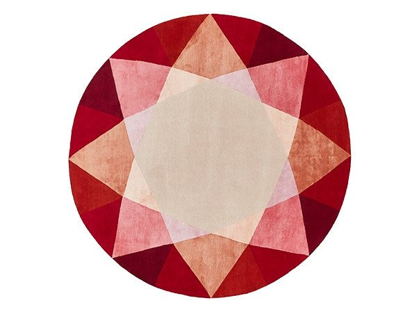 Round rug RUBY by Deirdre Dyson