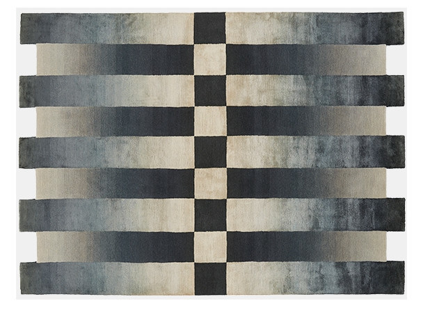Rectangular rug with geometric shapes CHEQUERED by Deirdre Dyson