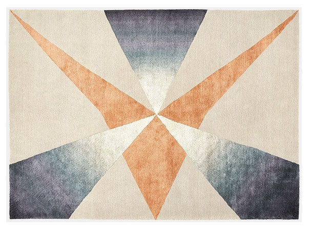 Rectangular rug with geometric shapes PINNACLE by Deirdre Dyson