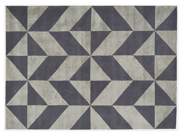 Rectangular rug with optical pattern OPTIC by Deirdre Dyson
