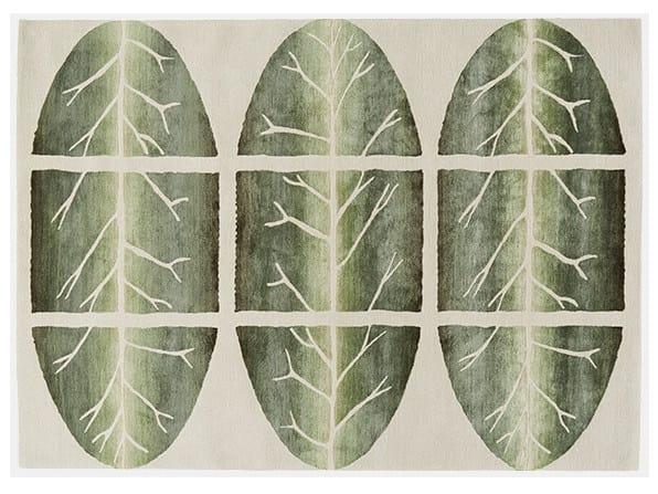 Rectangular rug TORN BETWEEN by Deirdre Dyson