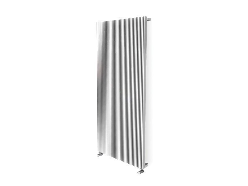 Vertical wall-mounted stainless steel decorative radiator PLANO + by FOURSTEEL