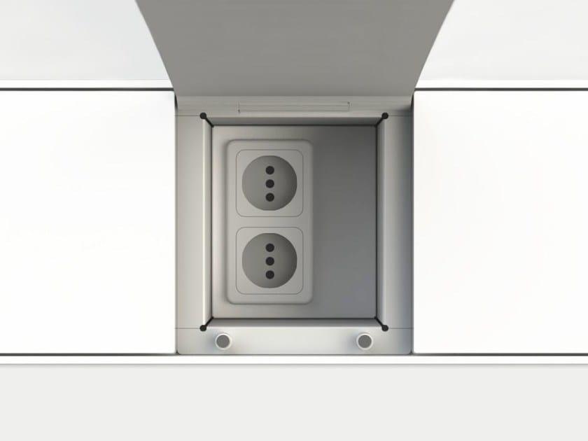 Accessorio per canale attrezzato EASYRACK KITCHEN FLAT | Presa elettrica by DOMUSOMNIA