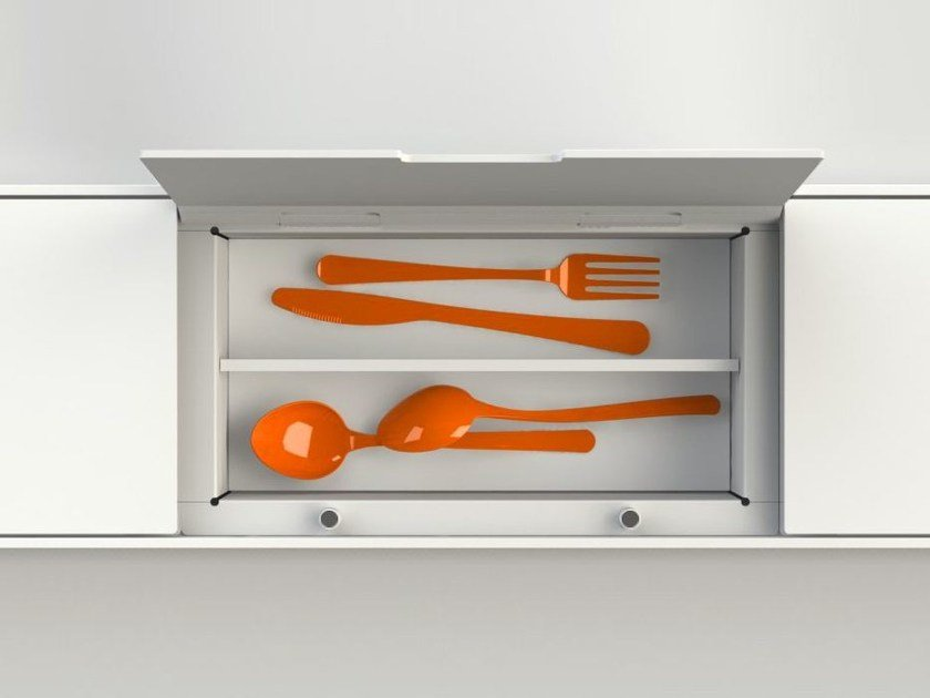 Kitchen equipped track EASYRACK KITCHEN STEP | Cutlery tray by DOMUSOMNIA