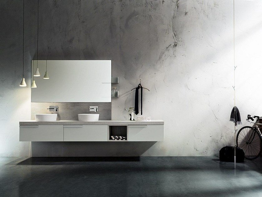 Double wall-mounted vanity unit MINIMAL PLAY 4/9 by Cerasa