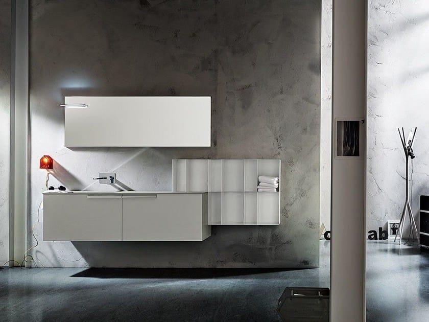 Wall-mounted vanity unit MINIMAL PLAY 14/19 by Cerasa