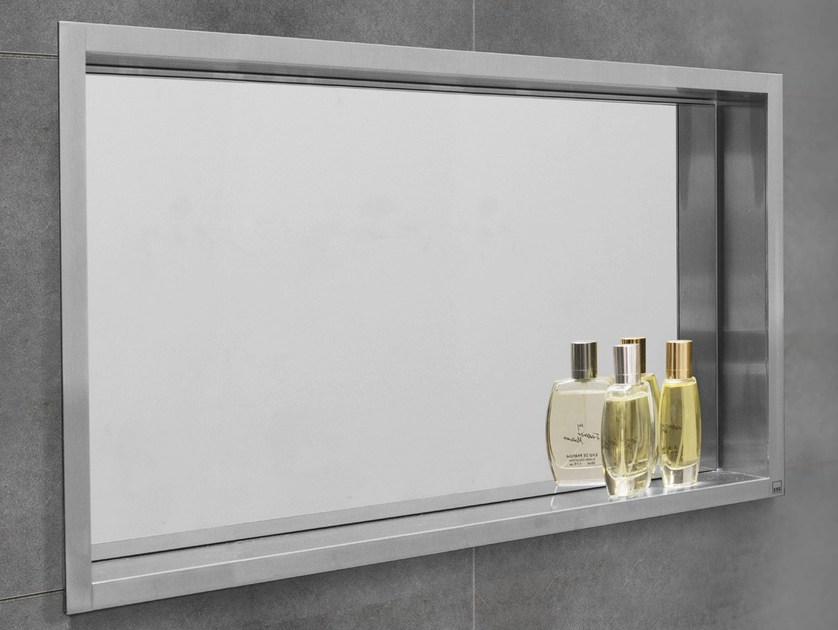 Stainless Steel Bathroom Wall Shelf CONTAINER BOX WALL NICHE WITH MIRROR By ESS Easy Drain