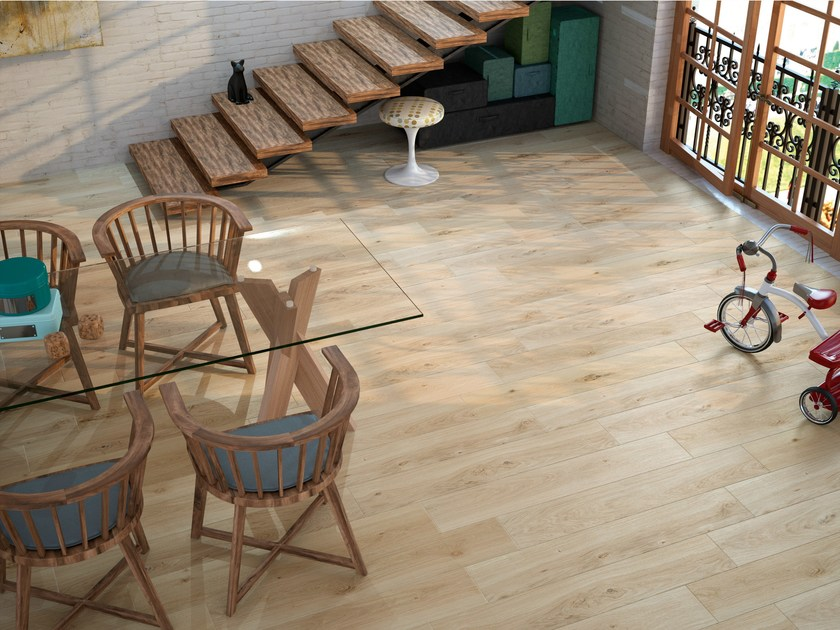 Porcelain stoneware flooring with wood effect OREGON by APE CERAMICA
