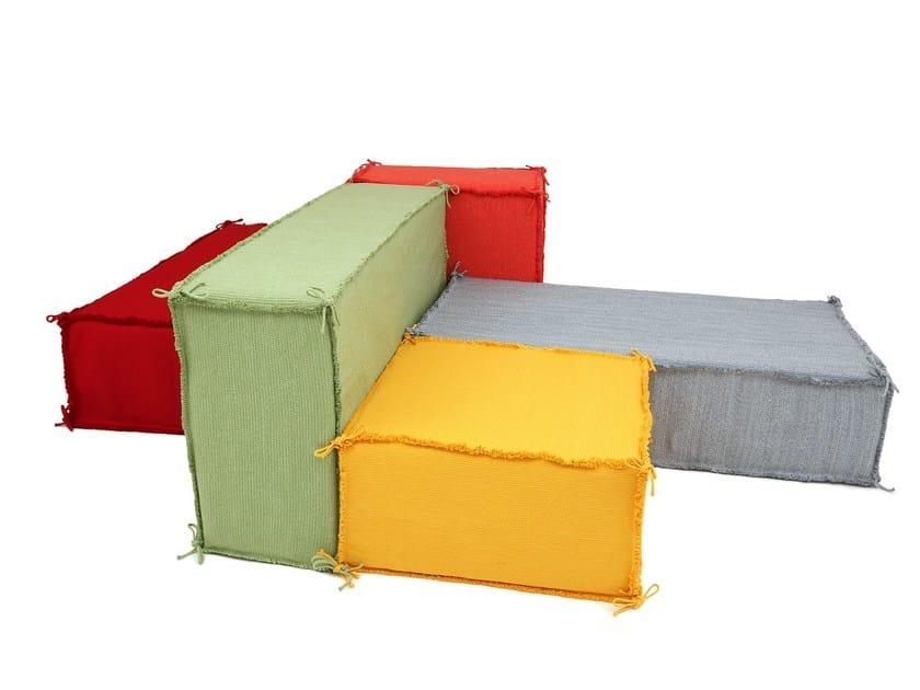 Modular technical fabric sofa ISLAND   Modular sofa by Darono
