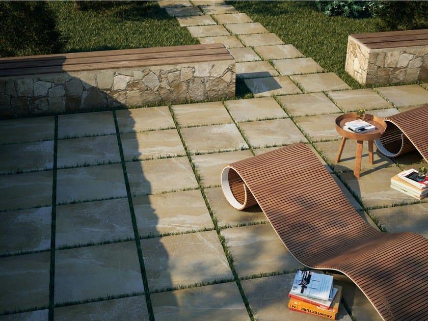 Porcelain stoneware outdoor floor tiles with concrete effect STROH by APE CERAMICA