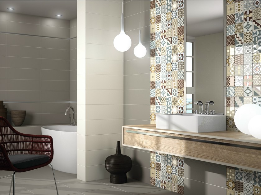 Wall floor tiles home by ape ceramica for Carrelage metro argent
