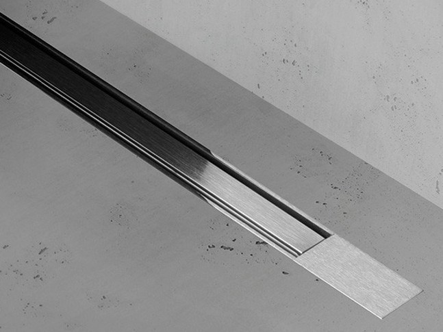 Shower channel XS Z-2 ZERO + BRUSHED STAINLESS STEEL by ESS Easy Drain