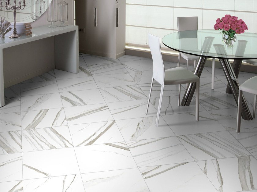 Wall/floor tiles with marble effect CALACATTA by CERAMICHE BRENNERO
