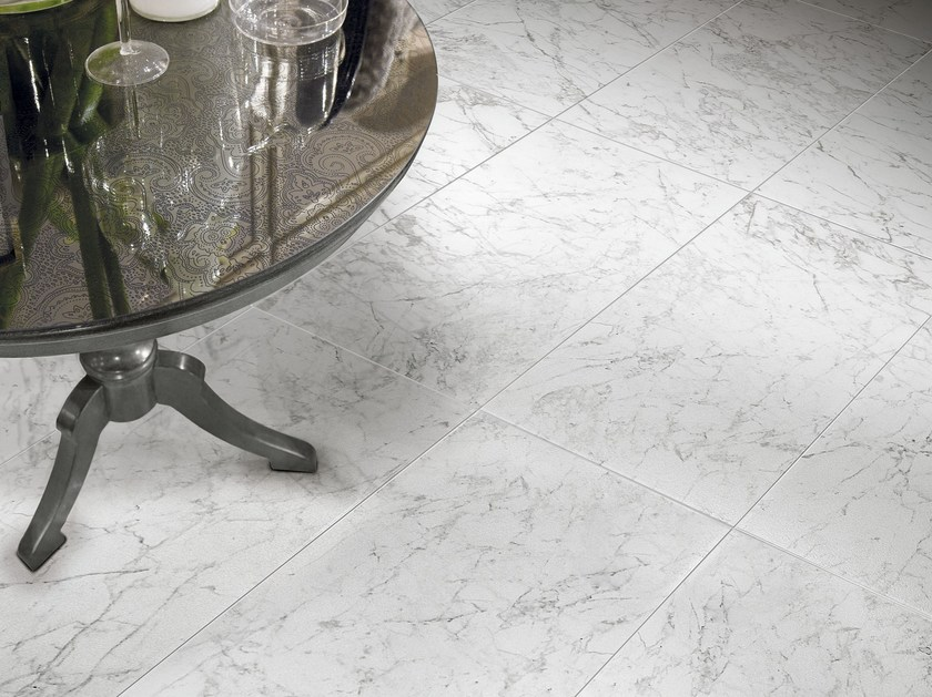 Wallfloor Tiles With Marble Effect Carrara By Ceramiche Brennero