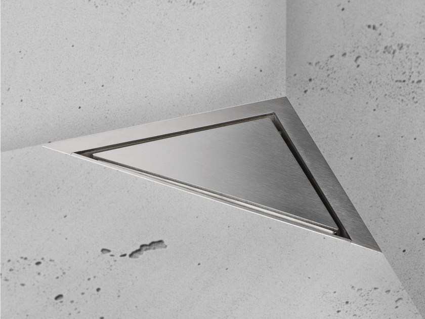 Shower channel AQUA JEWELS DELTA ZERO+BUSHED STAINLESS by ESS Easy Drain