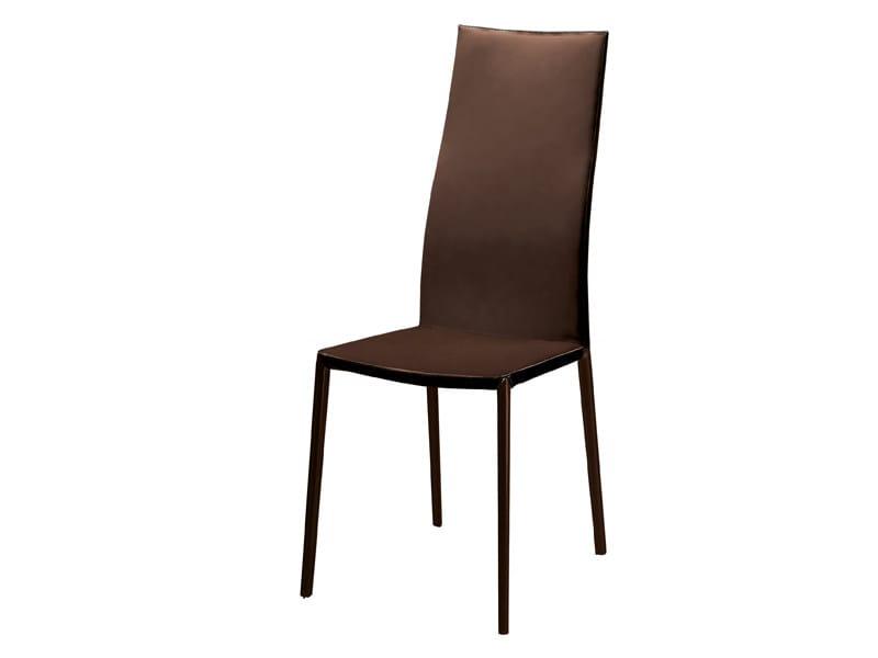 Sedia con schienale alto LEALTA by Zanotta