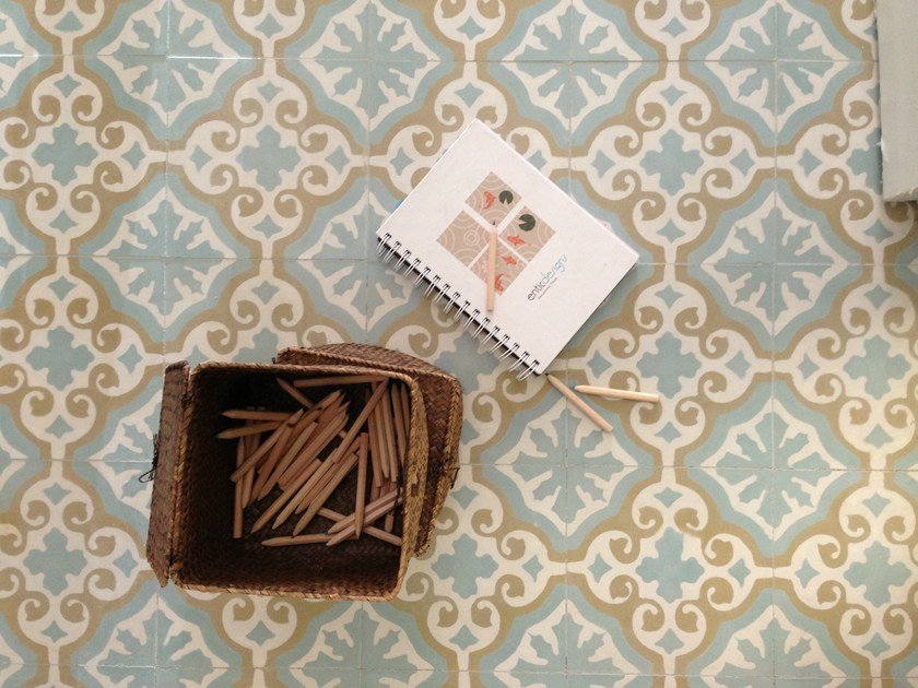 Cement wall tiles / flooring CLA_CB_15 by enticdesigns