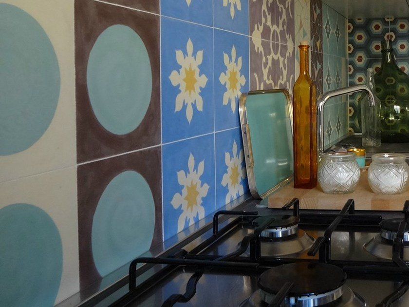 Cement wall tiles / flooring GEO_UN_25 by enticdesigns
