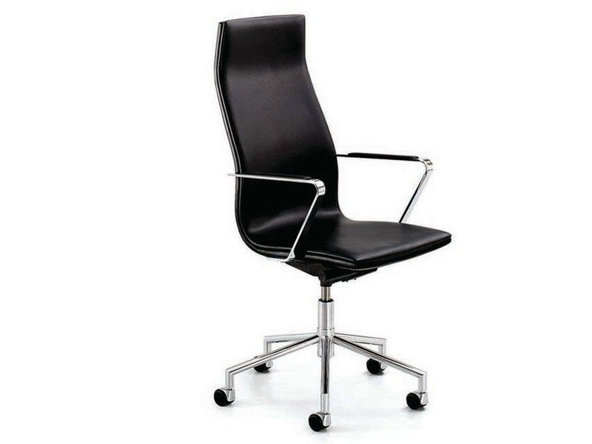 Swivel executive chair with armrests with casters .TALLIS | Executive chair by Spiegels
